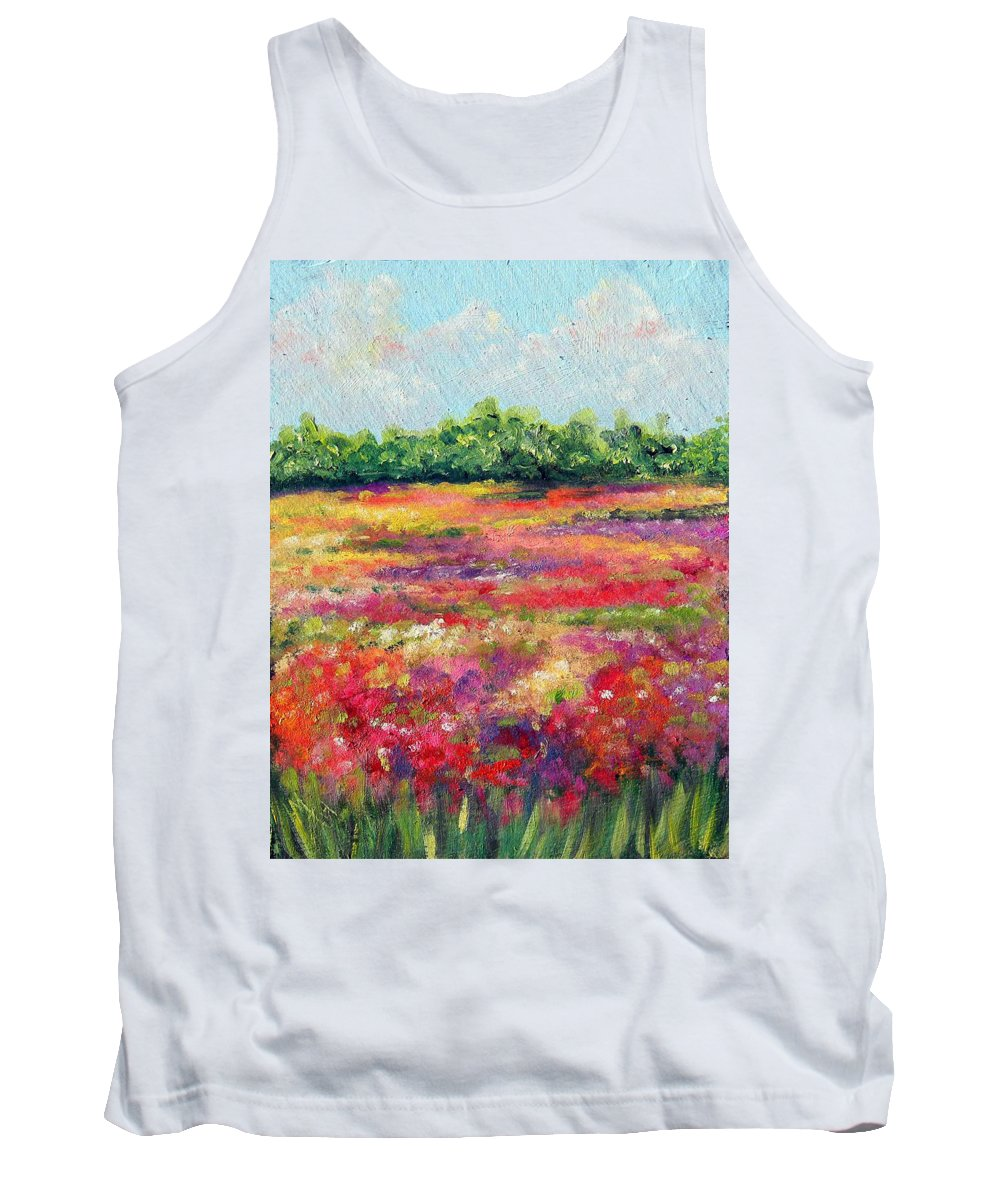 Flowers Tank Top featuring the painting Heaven's Breath by Meaghan Troup