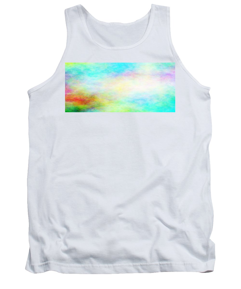 Pastels Tank Top featuring the painting Heaven's Gate - Moravian Falls #1 by Pastor Matthew Brown