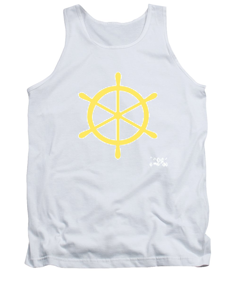 Graphic Art Tank Top featuring the photograph Helm In Yellow And White by Jackie Farnsworth