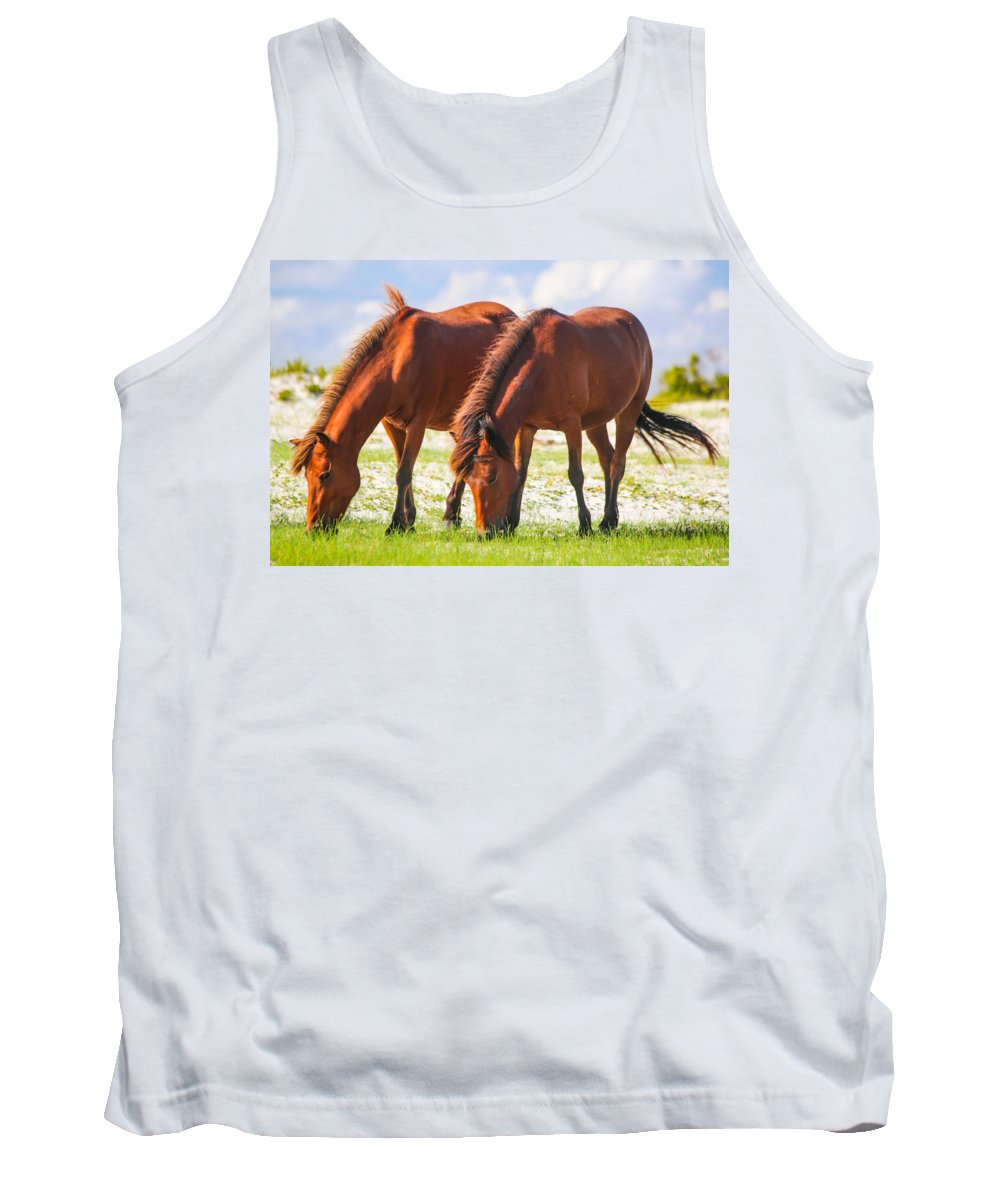 Wild Tank Top featuring the photograph Herd 32 by Paula OMalley