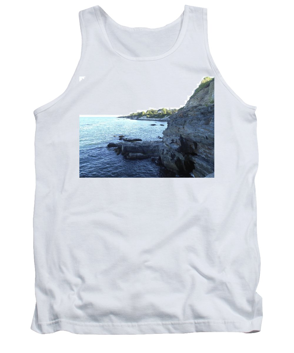 Cliff Walk Tank Top featuring the photograph Hidden Cave by Shannon Turek
