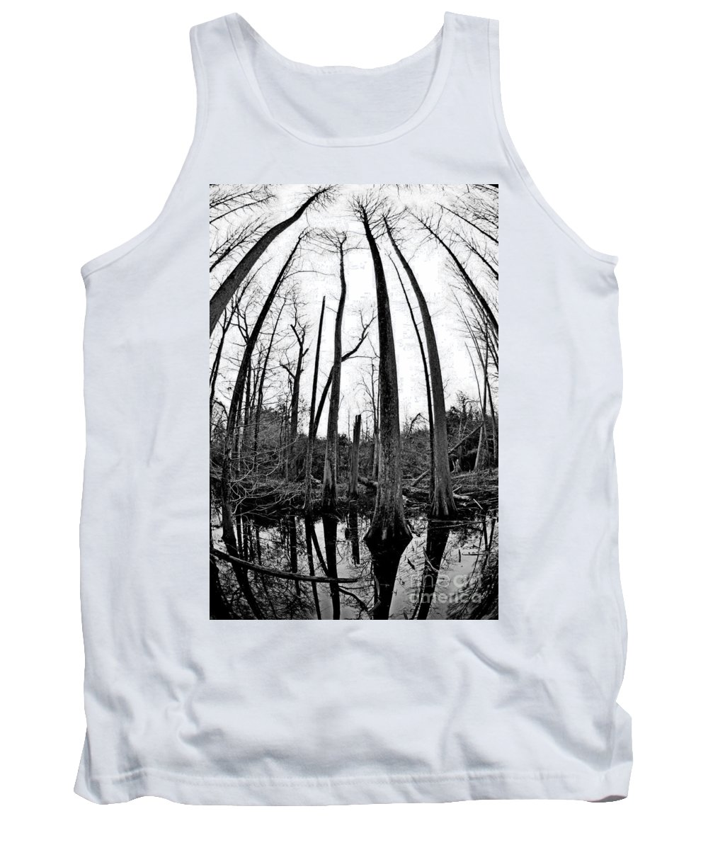 Black And White Tank Top featuring the photograph Hidden World by Liz Masoner