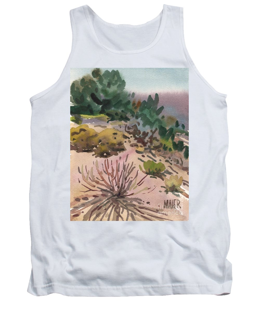 Utah Tank Top featuring the painting High Desert Flora by Donald Maier