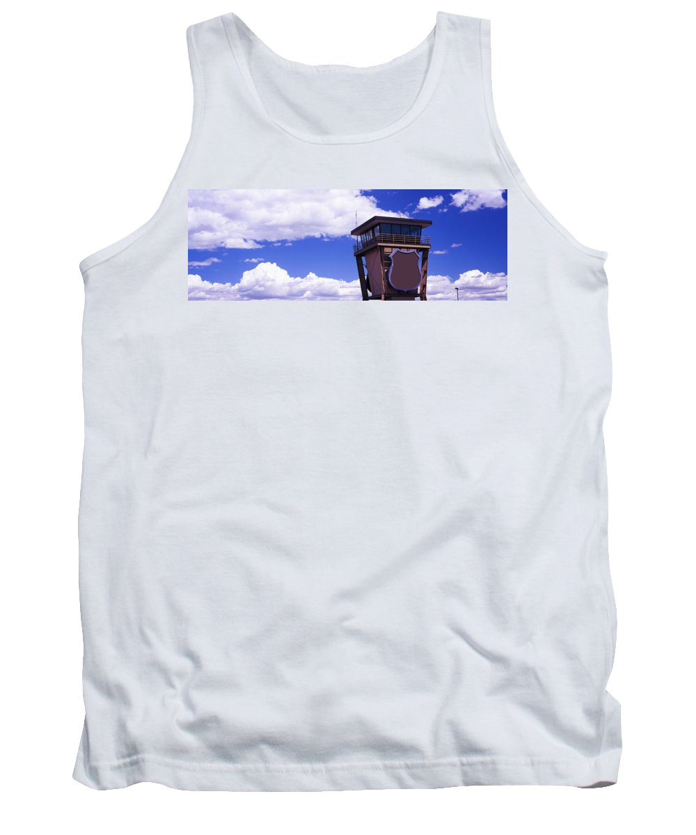 Photography Tank Top featuring the photograph High Section View Of Railroad Tower by Panoramic Images