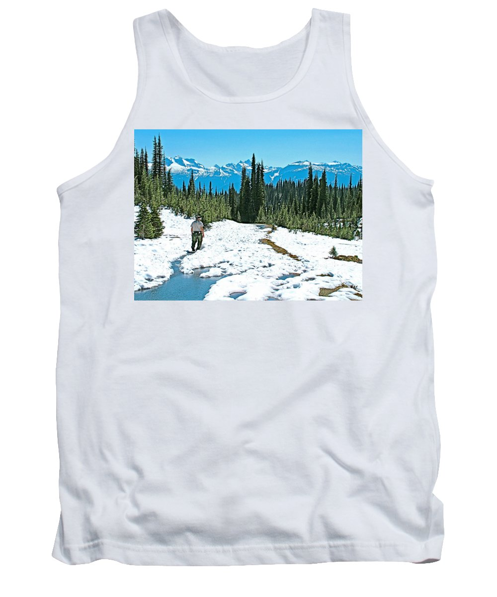 Hiking In Spring In Revelstoke National Park Tank Top featuring the photograph Hiking In Spring In Revelstoke National Park-british Columbia by Ruth Hager