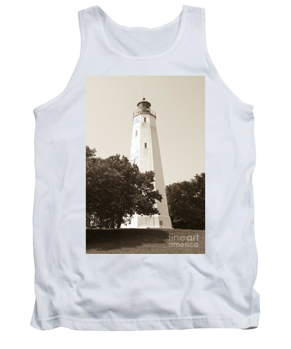 Lighthouses Tank Top featuring the photograph Historic Sandy Hook Lighthouse by Anthony Sacco