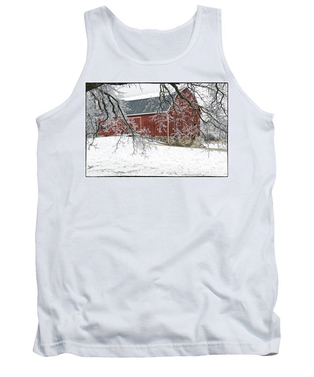 Barn Tank Top featuring the photograph Holly Barn by Debby Richards
