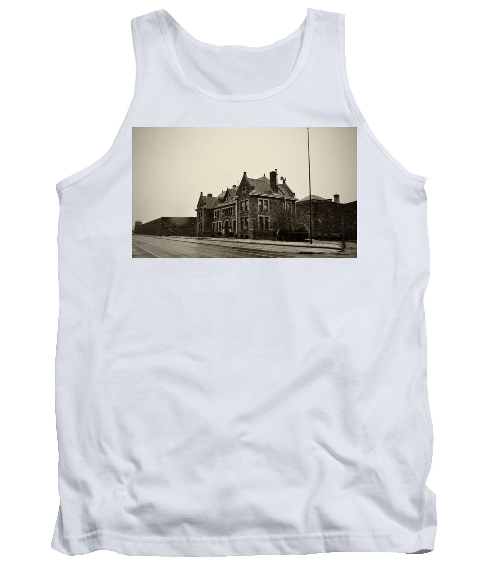 Holmesburg Prison Tank Top featuring the photograph Holmesburg Prison by Bill Cannon