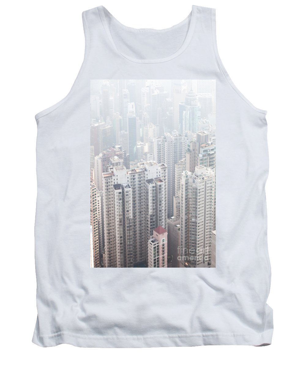 Hong Kong Tank Top featuring the photograph Hong Kong City In The Mist by Matteo Colombo