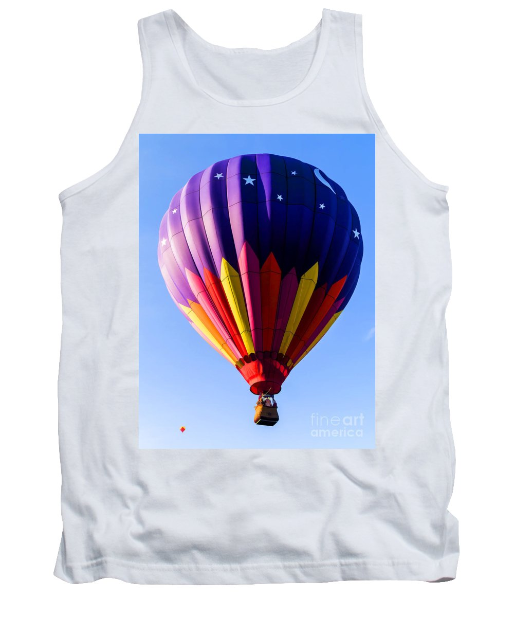 Hot Tank Top featuring the photograph Hot Air Ballooning In Vermont by Edward Fielding