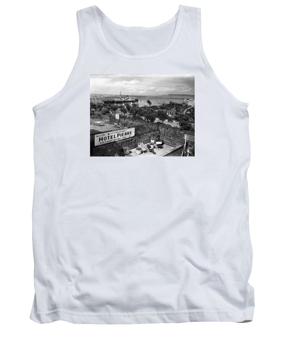 D�n Laoghaire Tank Top featuring the photograph Hotel Pierre Dun Laoghaire 1958 by Irish Photo Archive