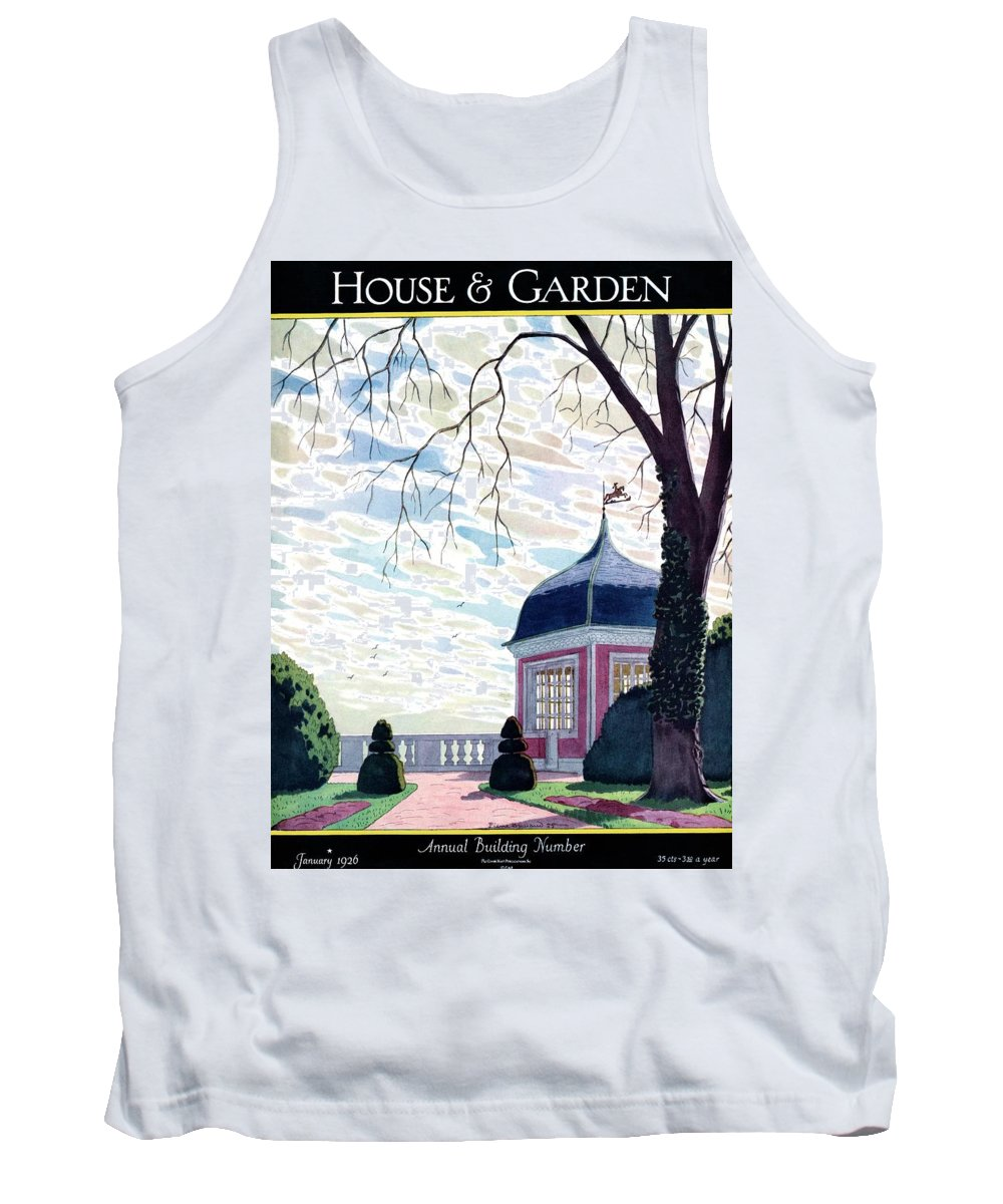 House And Garden Tank Top featuring the photograph House And Garden Annual Building Number Cover by Pierre Brissaud