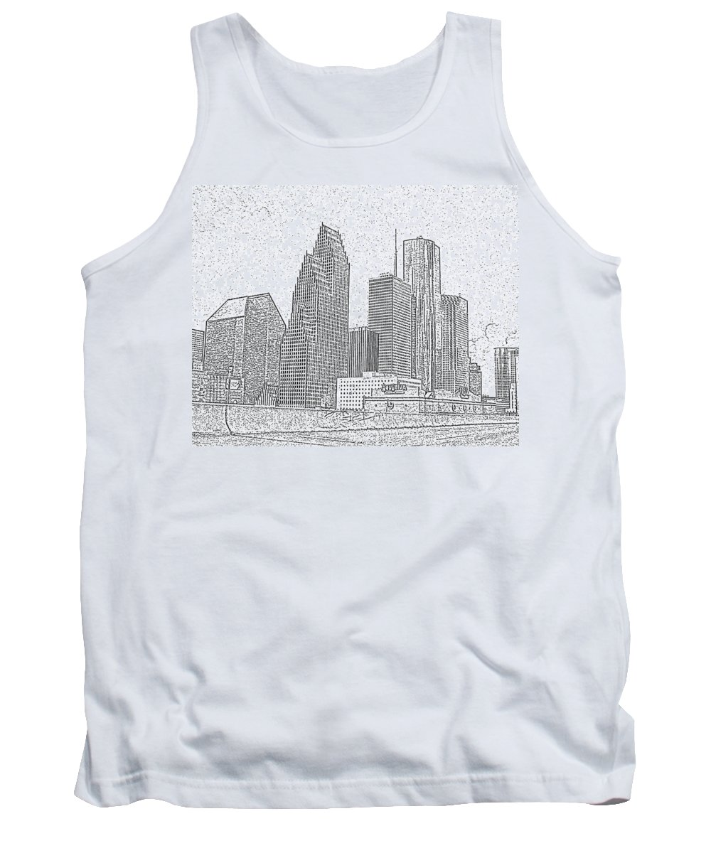Skyscape Tank Top featuring the photograph Houston Skyline Abstract by Jeanne A Martin