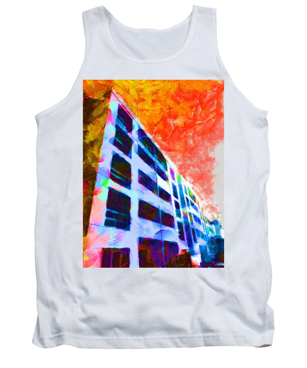 Saturation Tank Top featuring the digital art I Can't Get No Saturation by Steve Taylor