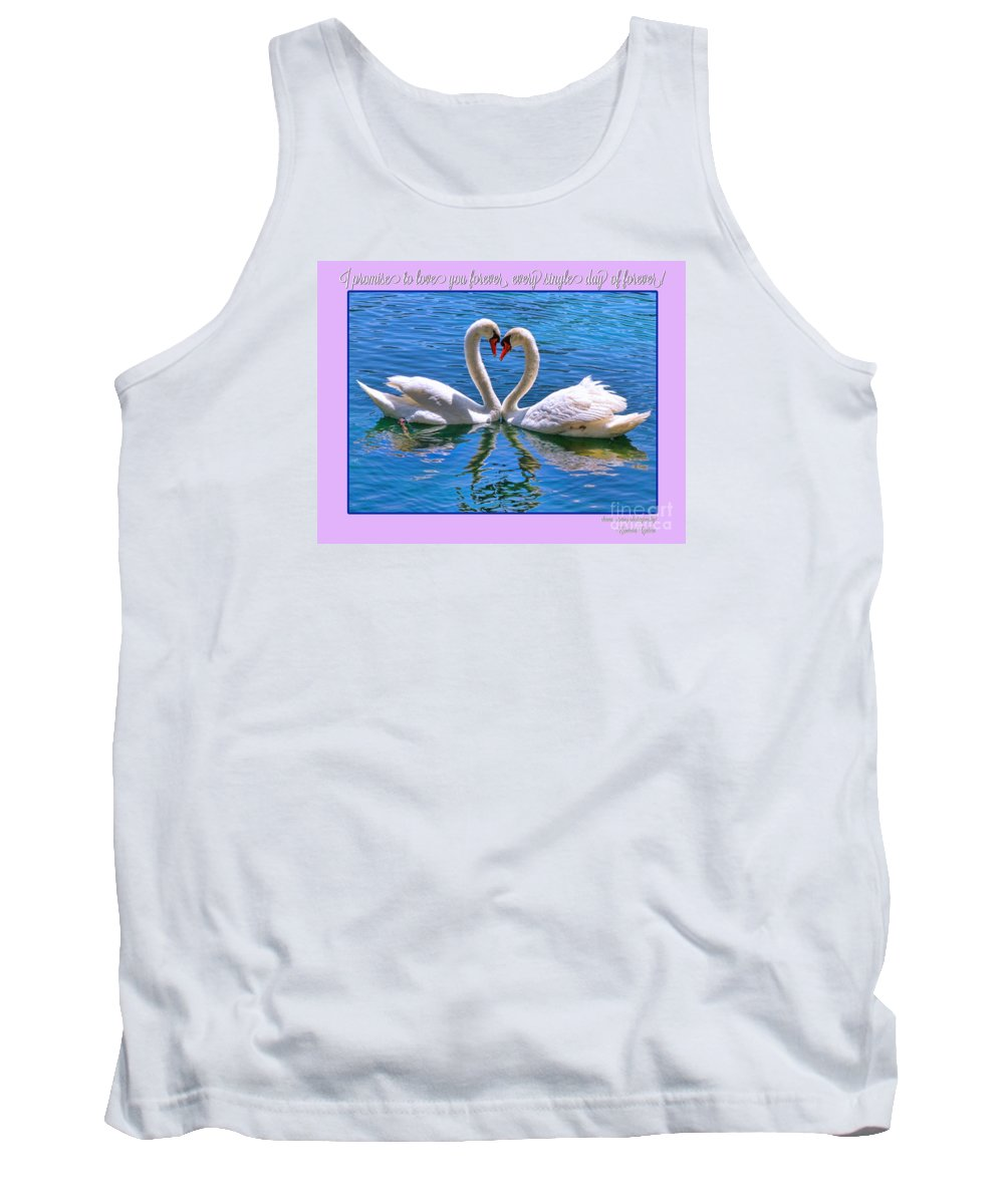 Swan Tank Top featuring the photograph I Promise To Love You Poster By Diana Sainz by Diana Raquel Sainz