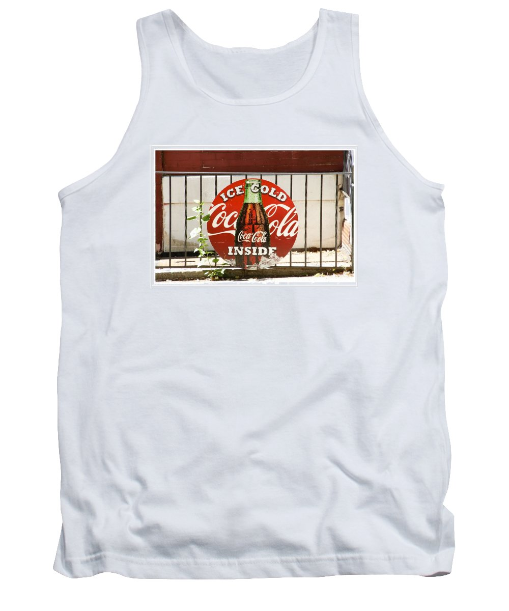 Coca Cola Sign Tank Top featuring the photograph Ice Cold by Alice Gipson