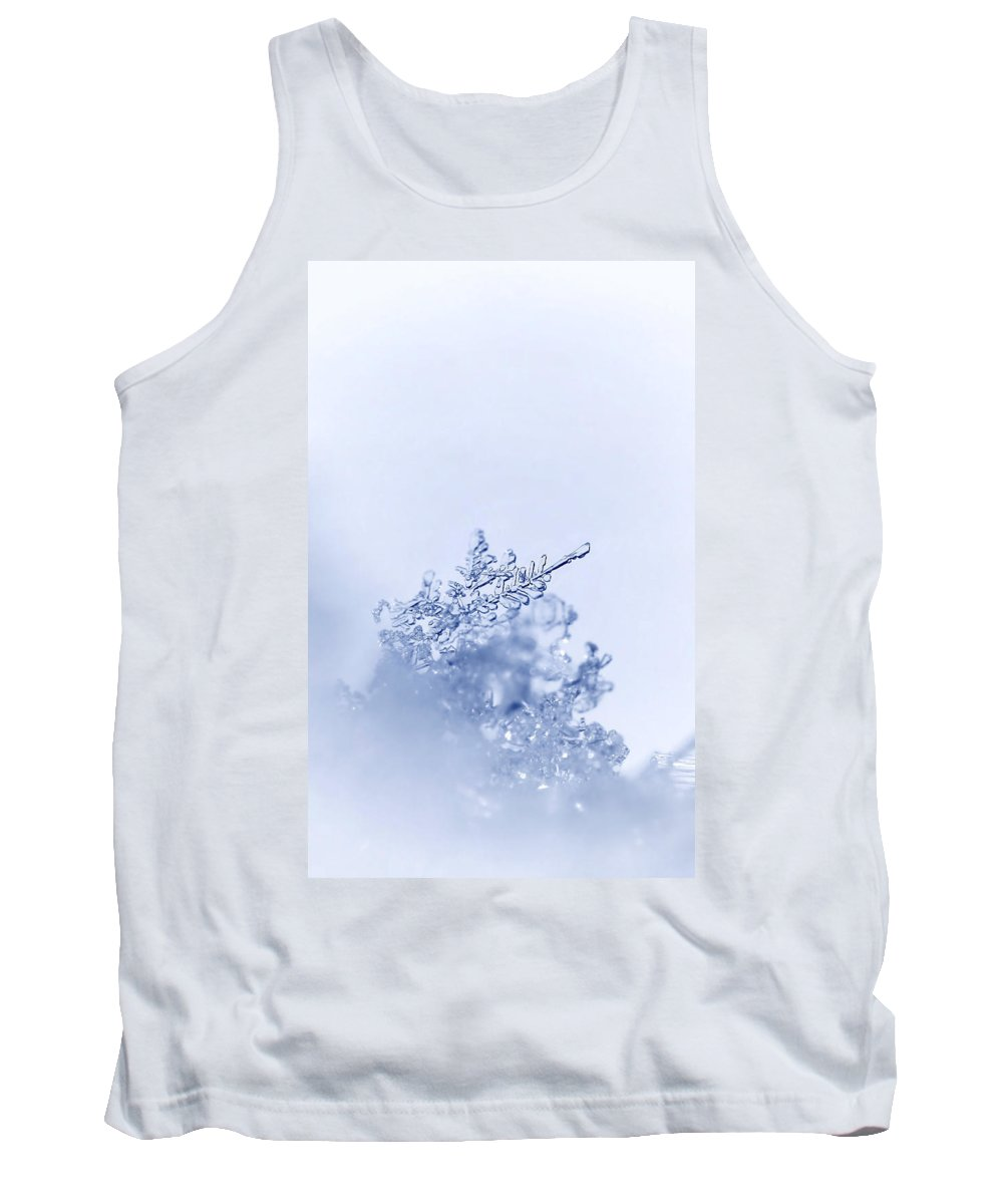 Winter Cold Tank Top featuring the photograph Ice Crystals by Heike Hultsch
