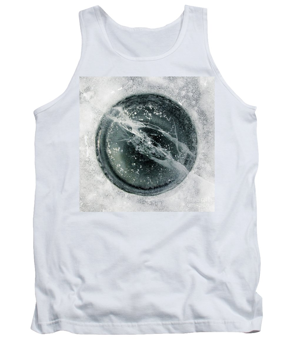 Ice Tank Top featuring the photograph Ice Fishing Hole 8 by Steven Ralser