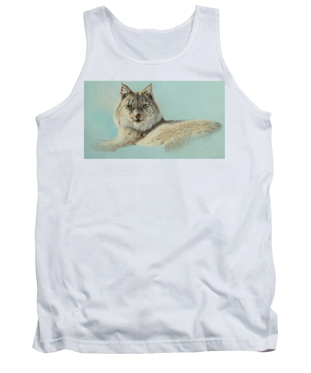 Wildlife Tank Top featuring the drawing Ice Princess by Clare Shaughnessy