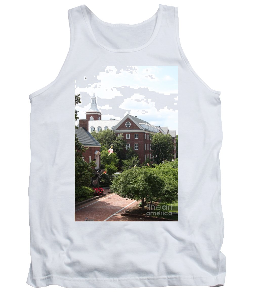 House Tank Top featuring the photograph Idyllic View From Maryland State House by Christiane Schulze Art And Photography