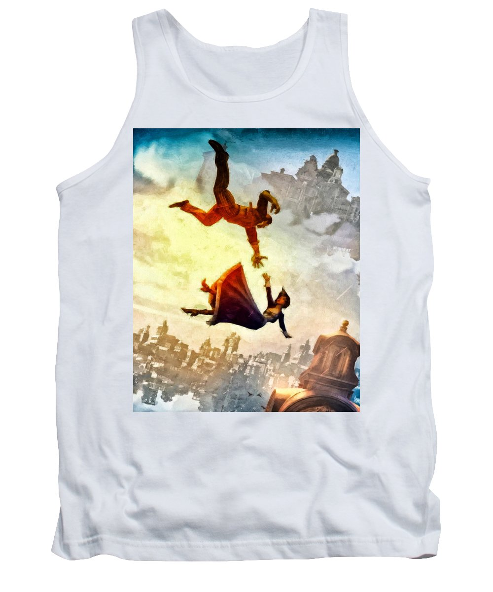 Movie Tank Top featuring the painting If You Fall by Joe Misrasi