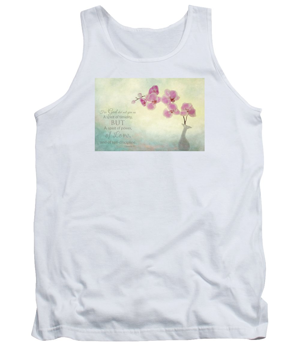 Flower Artwork Tank Top featuring the photograph Ikebana With Message by Mary Buck