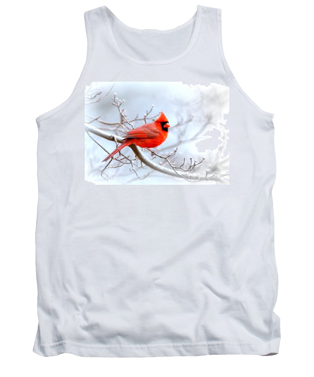 Cardinal Tank Top featuring the photograph Img 2259-22 - Northern Cardinal by Travis Truelove