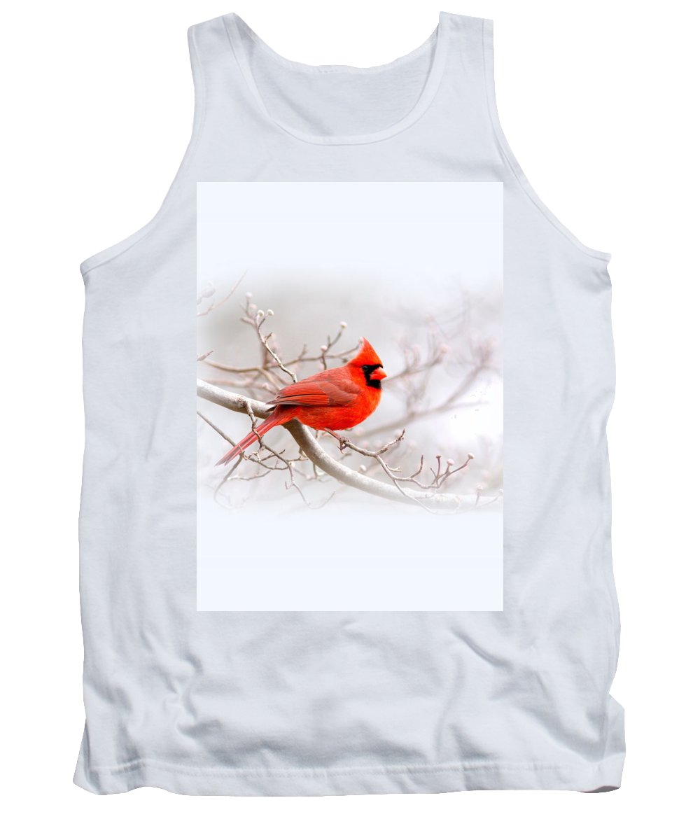 Cardinal Tank Top featuring the photograph Img_2559-8 - Northern Cardinal by Travis Truelove