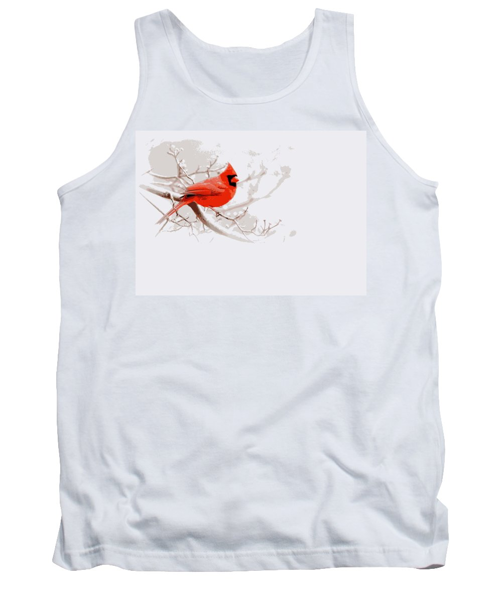 Cardinal Tank Top featuring the photograph Img 2559-9 by Travis Truelove