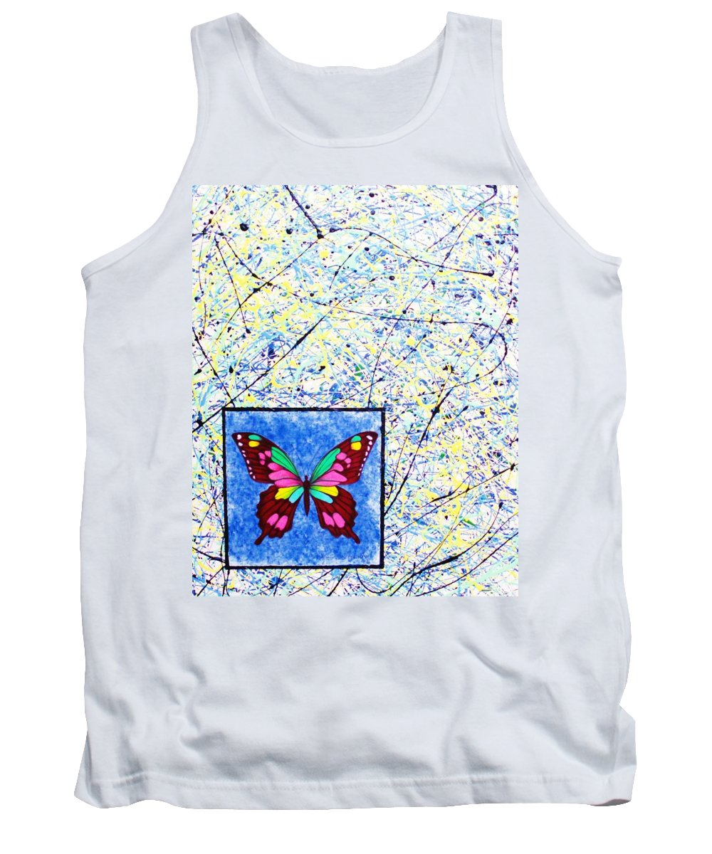Abstract Tank Top featuring the painting Imperfect I by Micah Guenther