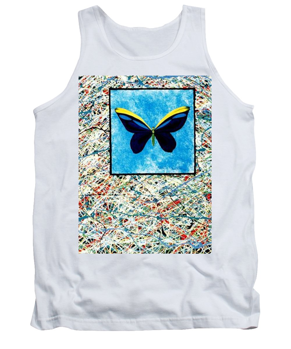 Abstract Tank Top featuring the painting Imperfect II by Micah Guenther