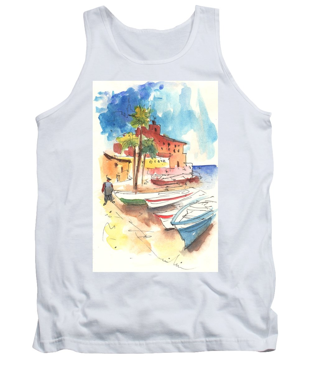 Italy Tank Top featuring the painting Imperia In Italy 01 by Miki De Goodaboom