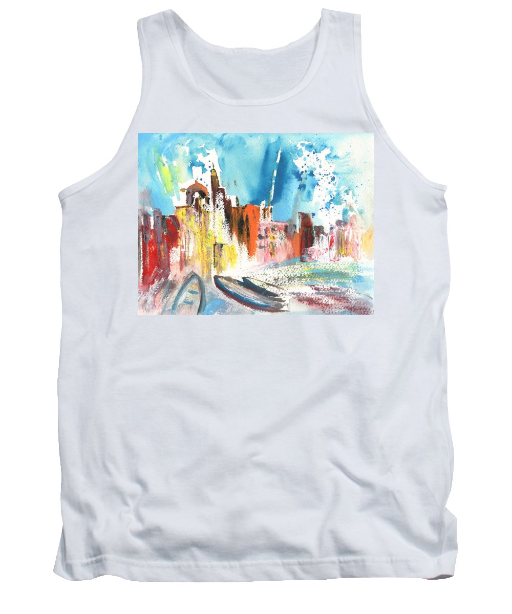 Italy Tank Top featuring the painting Imperia In Italy 03 by Miki De Goodaboom