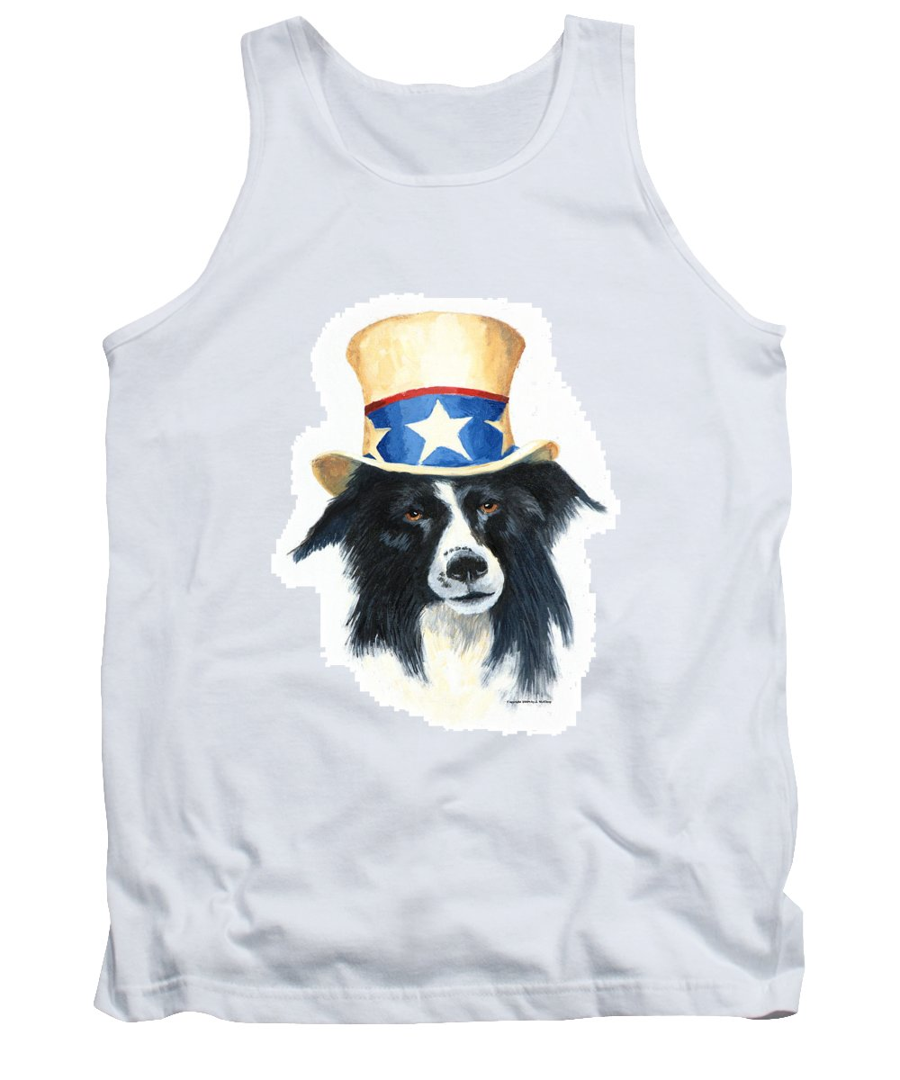Dog Tank Top featuring the painting In Dog We Trust by Jerry McElroy