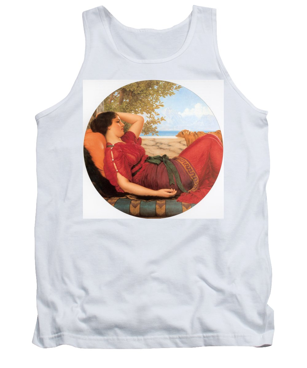 John William Godward Tank Top featuring the digital art In Realms Of Fancy by John William Godward