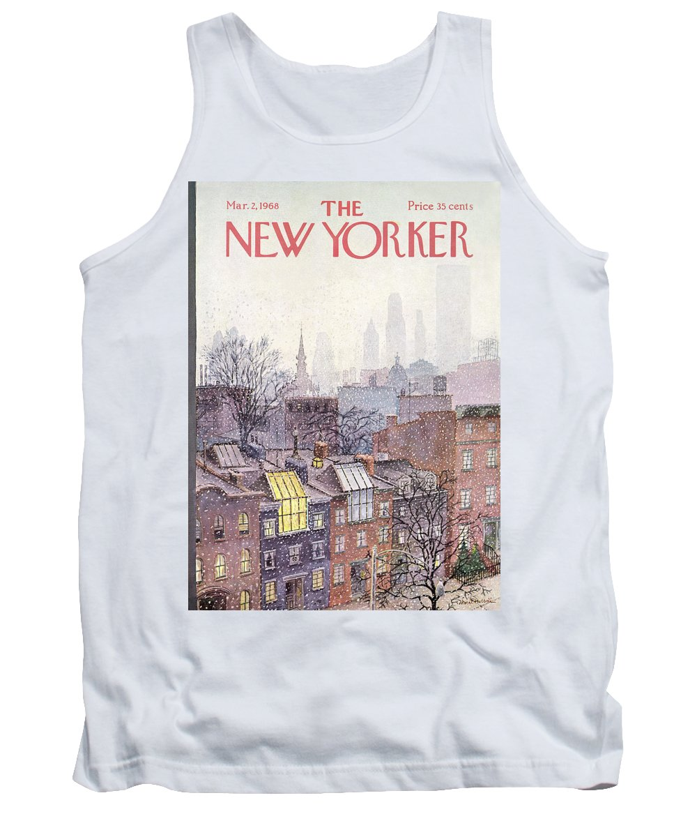 Albert Hubbell Ahu Tank Top featuring the painting New Yorker March 2, 1968 by Albert Hubbell
