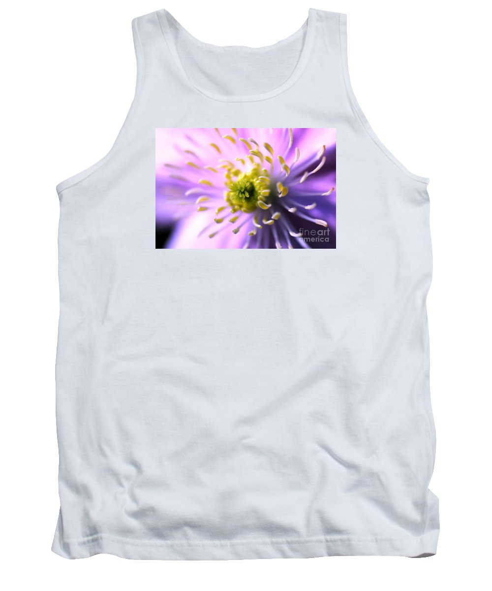 In The Sunshine Tank Top featuring the photograph Clematis 1 by Wendy Wilton