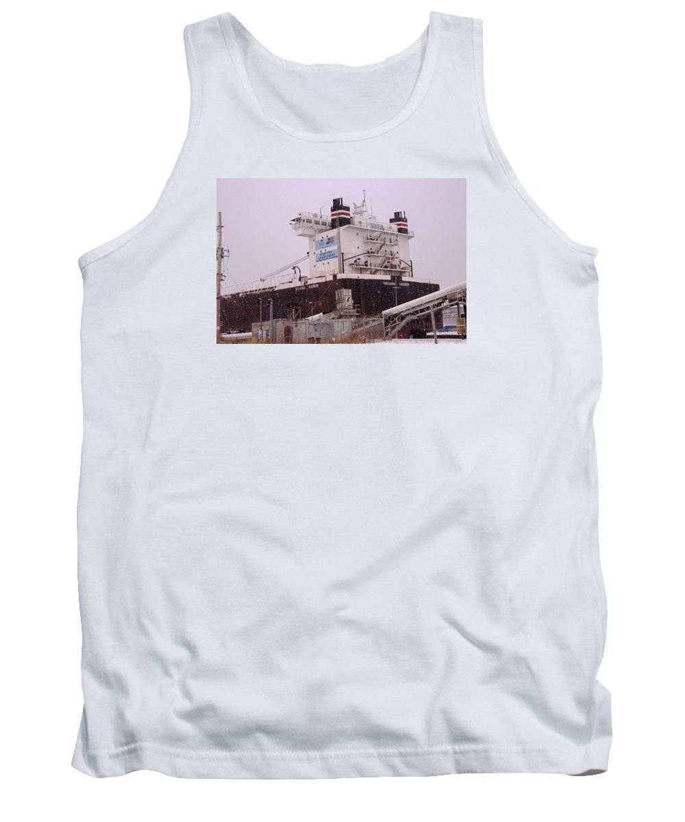 Indiana Harbor Tank Top featuring the photograph Indiana Harbor 1 by Susan McMenamin
