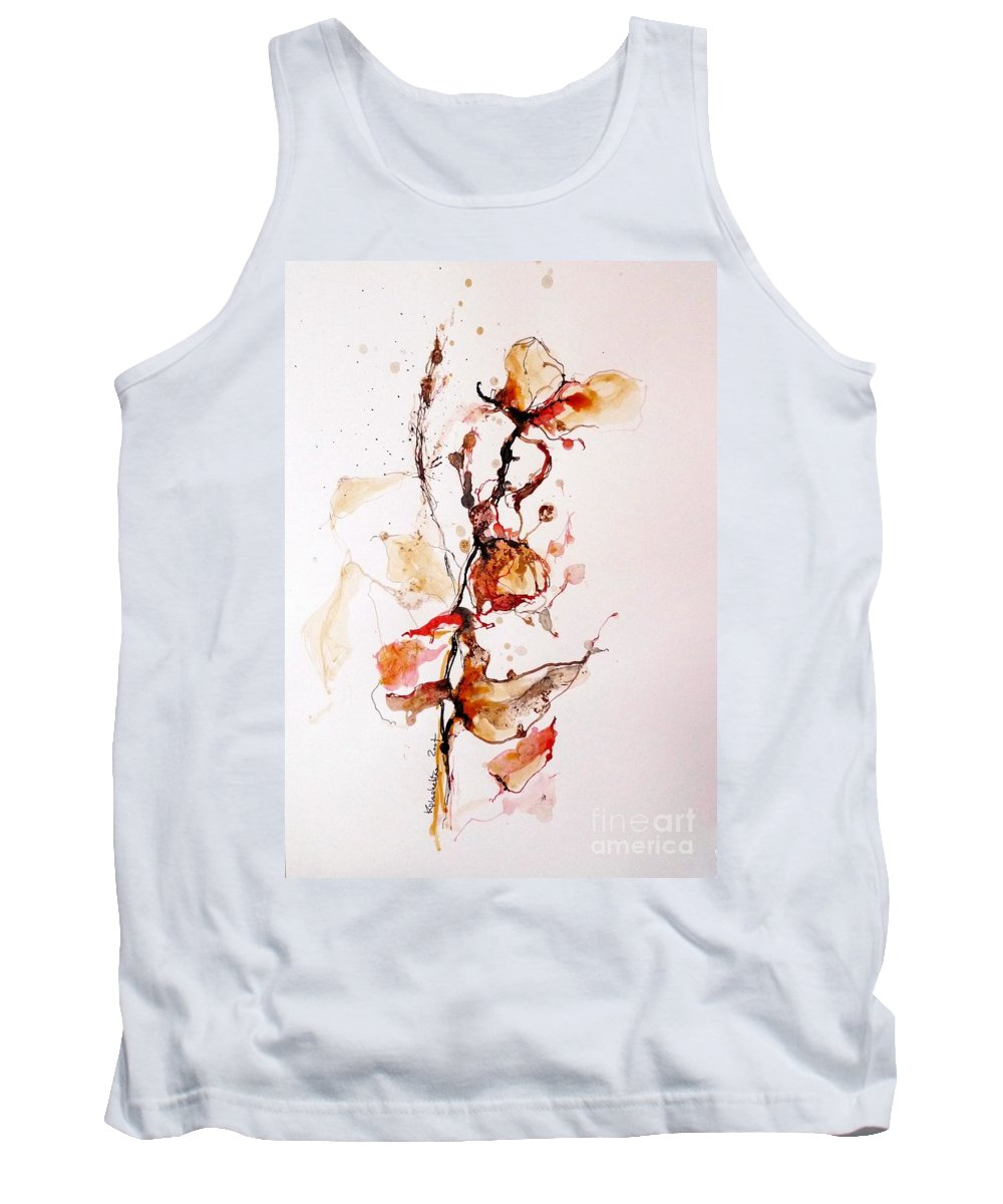 Ink Tank Top featuring the drawing Ink_r1 by Karina Plachetka