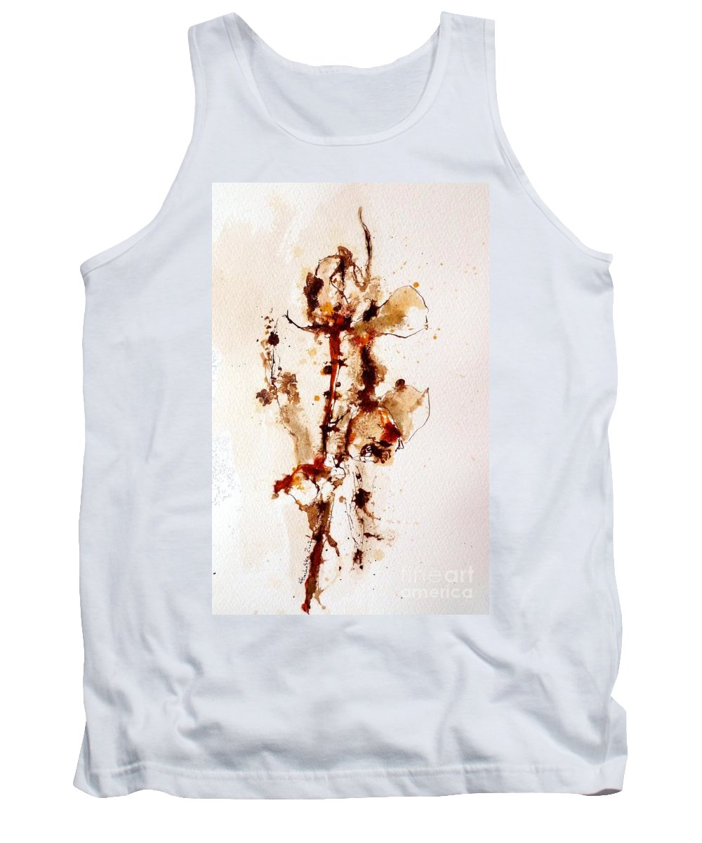 Ink Tank Top featuring the drawing Ink_r4 by Karina Plachetka