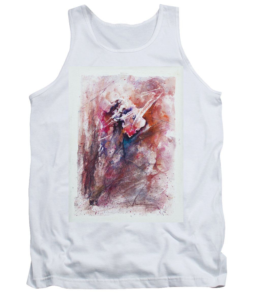 Abstract Tank Top featuring the painting Inner Conflict by Rachel Christine Nowicki