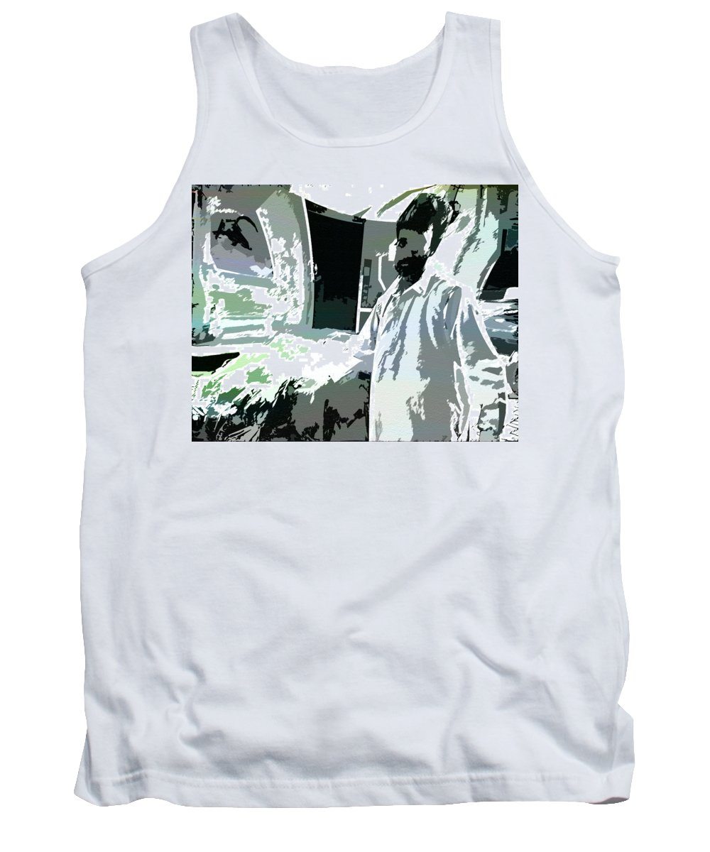 Surreal Tank Top featuring the photograph Inside Man - Outside Man by Lenore Senior
