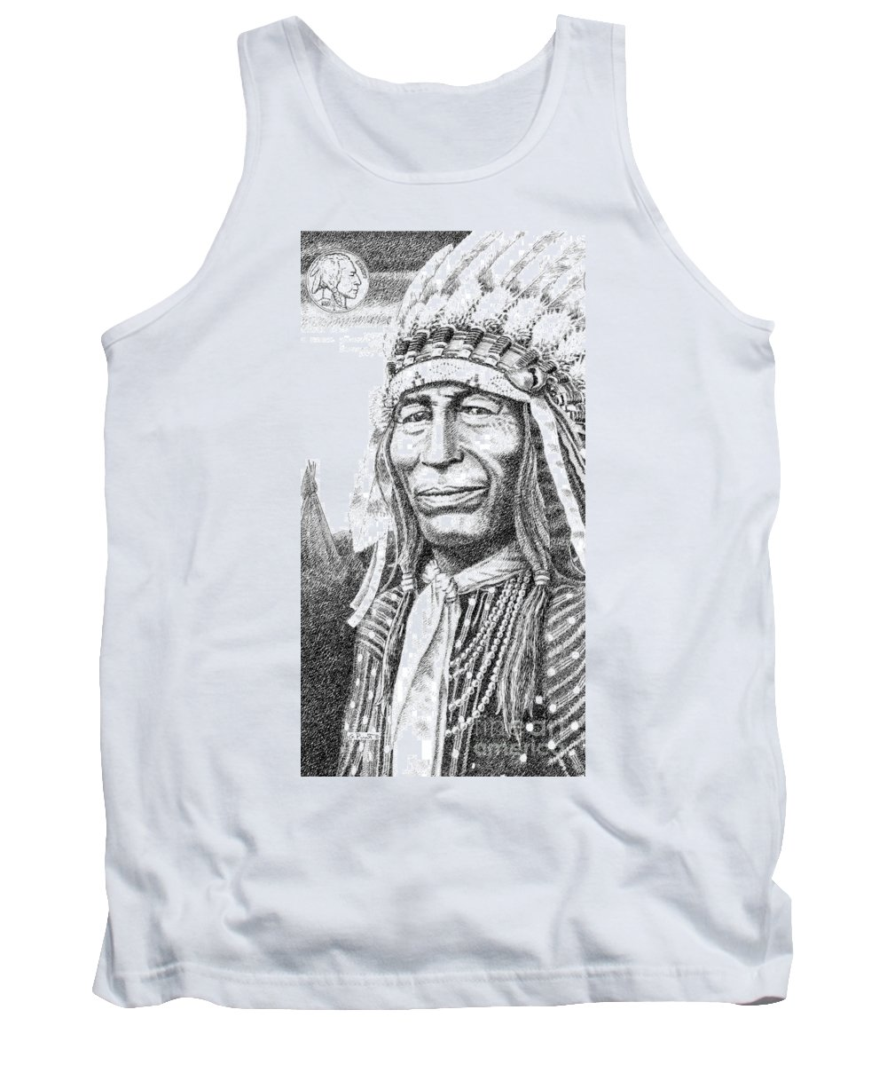 Chief Tank Top featuring the drawing iPhone-Case-Iron-Tail by Gordon Punt