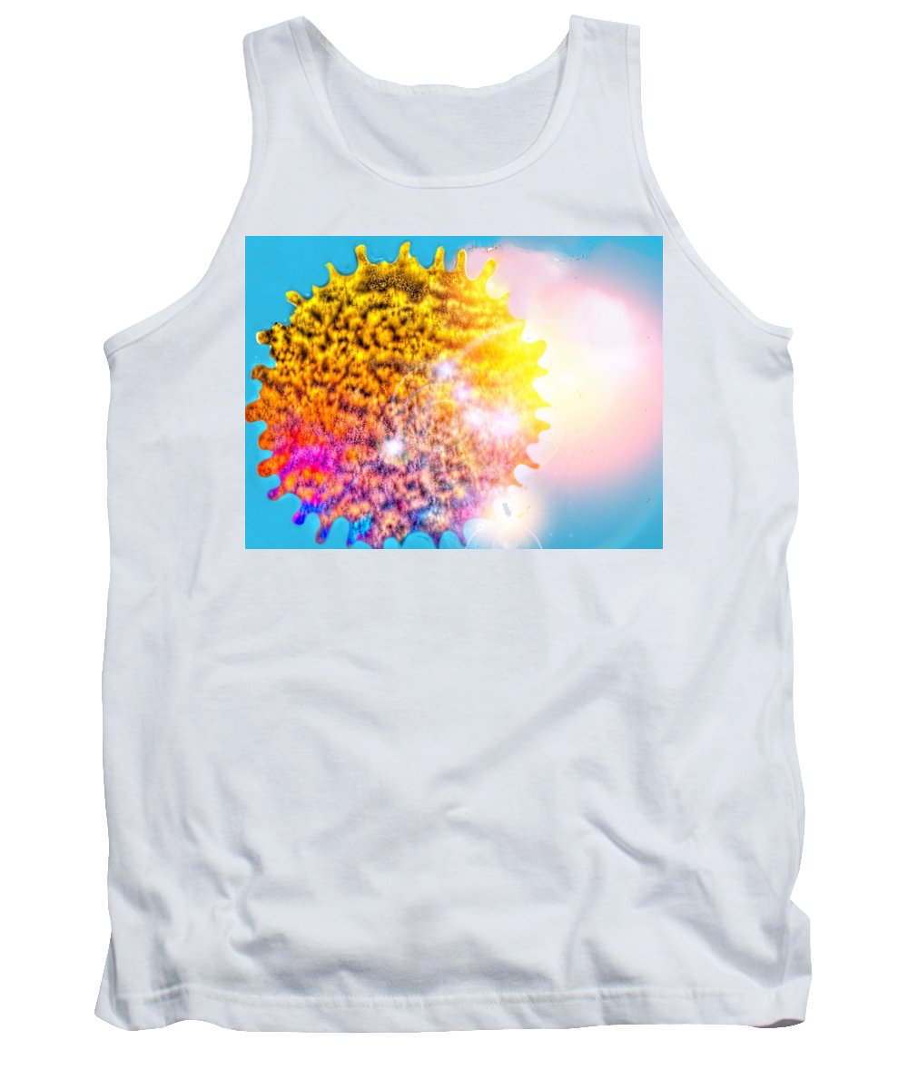 Tank Top featuring the painting Iridescent Sun by Nikki Keep