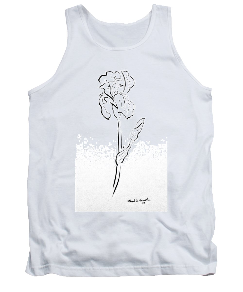 Abstract Tank Top featuring the drawing Iris II by Micah Guenther