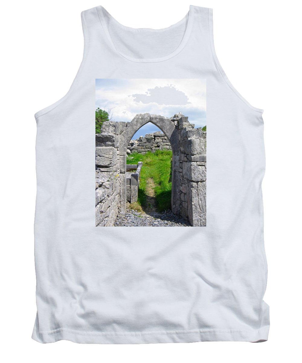 The Seven Churches Tank Top featuring the photograph Irish Church Ruins by Denise Mazzocco