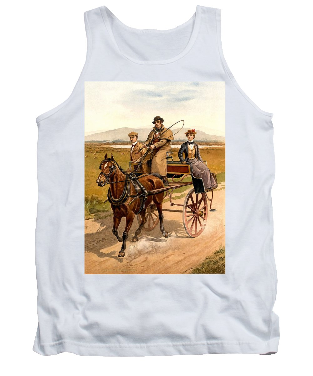 Irish Jaunting Car Tank Top featuring the photograph Irish Jaunting Car by Detroit Publishing Co