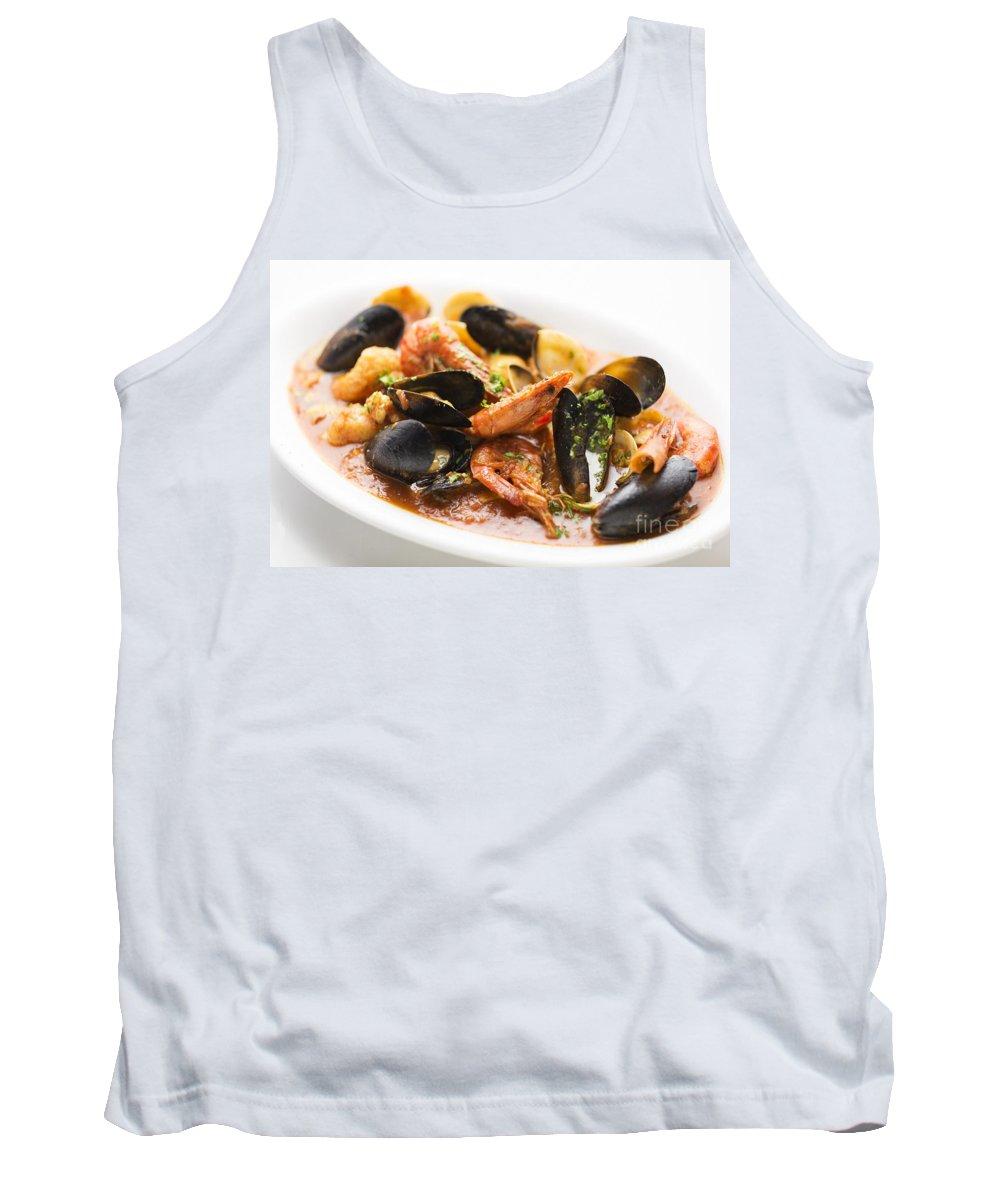 Classic Tank Top featuring the photograph Italian Seafood Stew by Jacek Malipan
