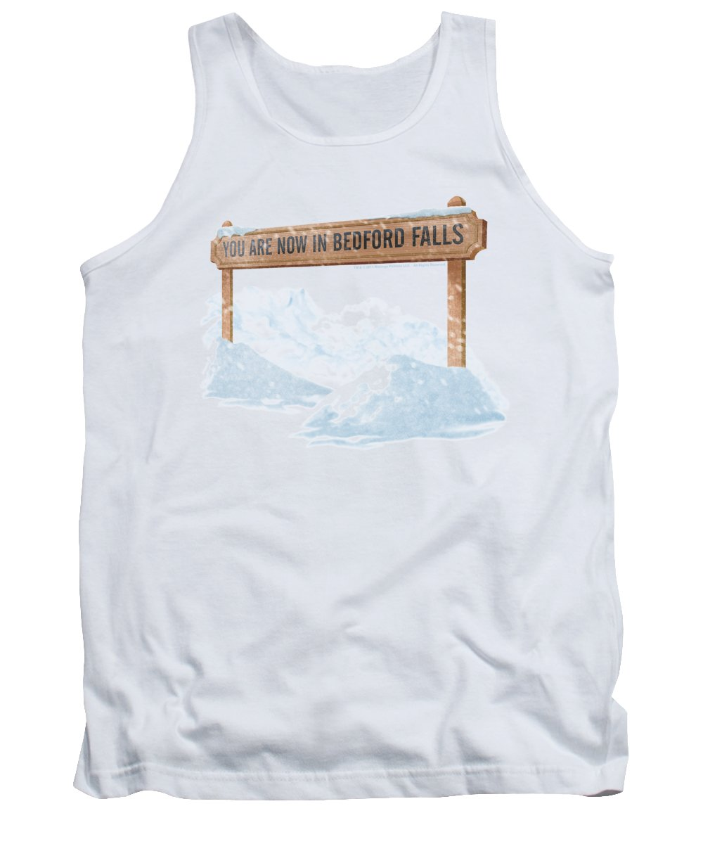 It's A Wonderful Life Tank Top featuring the digital art Its A Wonderful Life - Bedford Falls by Brand A