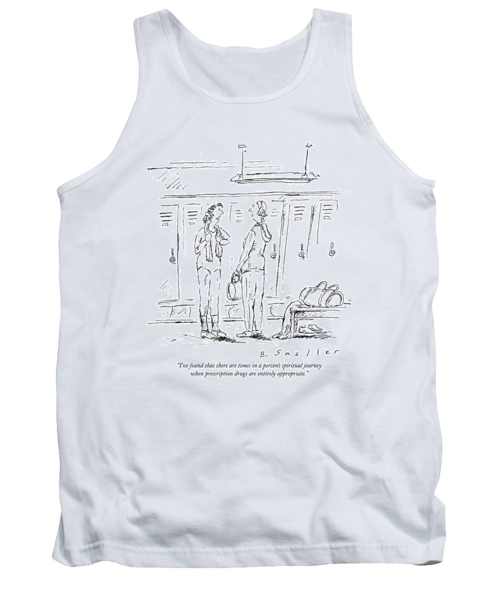 Spiritual Journey Tank Top featuring the drawing I've Found That There Are Times In A Person's by Barbara Smaller